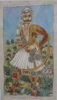 """""""Ο καπετάν Λεωνίδας Ανδρούτσος πατέρας του Οδυσσέα"""" του Θεόφιλου Χατζημιχαήλ. 1931. Συλλογή Μουσειου Θεόφιλου."""