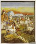 Ο Κολοκοτρώνης συγκεντρώνει στη Λίμνη Λερνα στρατό, έργο του Θεόφιλου