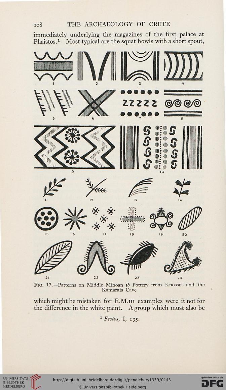 Μοτίβα από αγγεία της μινωικής εποχής /patterns from minoan age pots